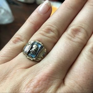 10k gold + gem vintage class ring by Jostens